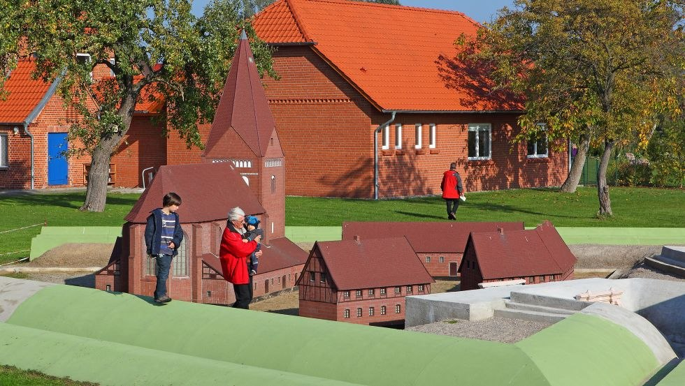 Maßstabgerechtes Modell der Festung Kirchdorf, © Kurverwaltung Ostseebad Insel Poel