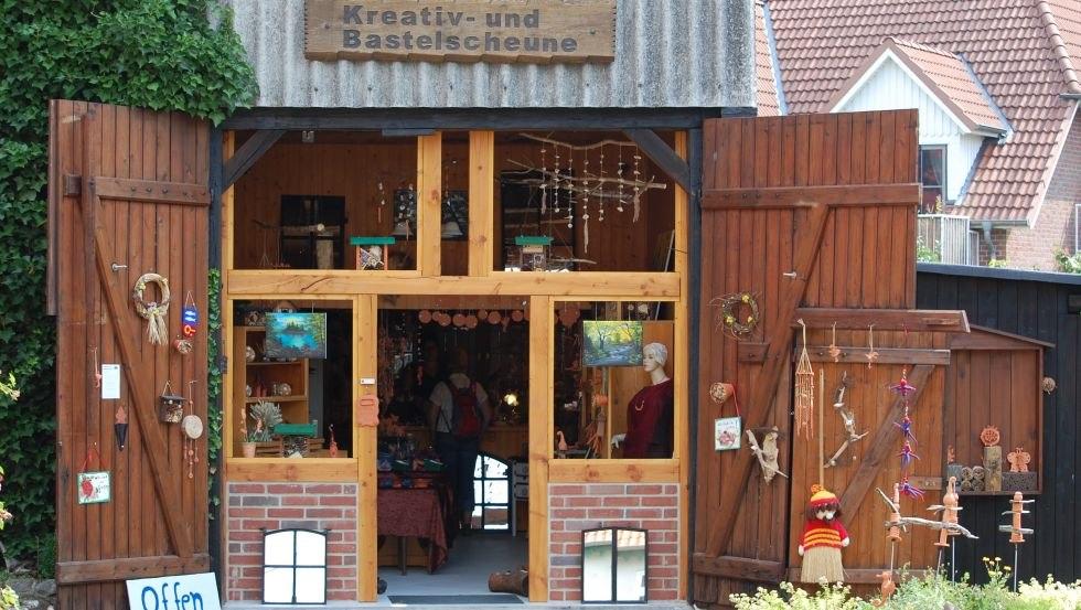 Eingang in die Kreativ- und Bastelscheune, © Kreativ- und Bastelscheune/Hoffmeister