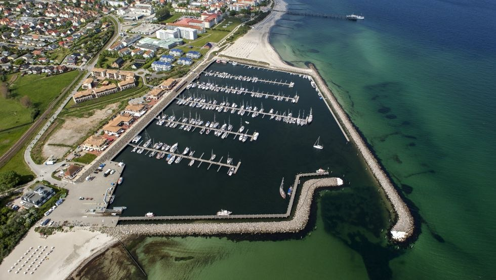 Luftaufnahme vom Bootshafen, © Rajko Grawert