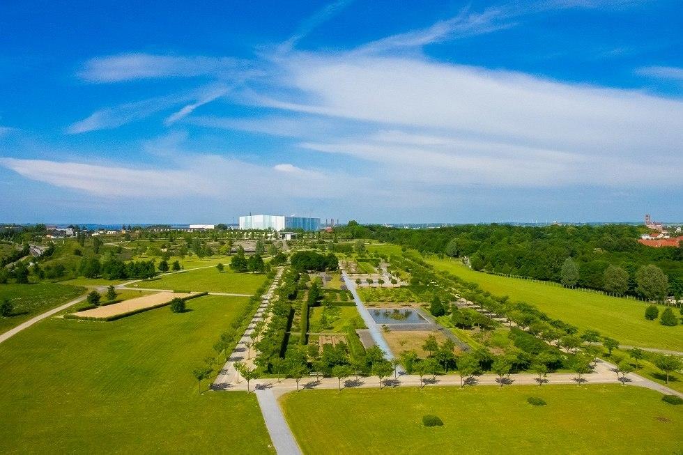 Blick auf den Bürgerpark in Wismar vom Aussichtsturm aus, © Frank Burger